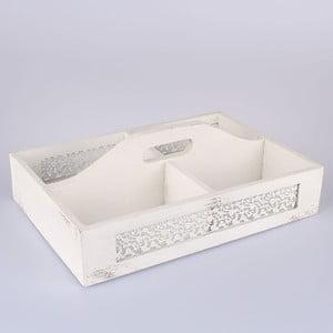 Biela drevená prepravka Dakls Parma