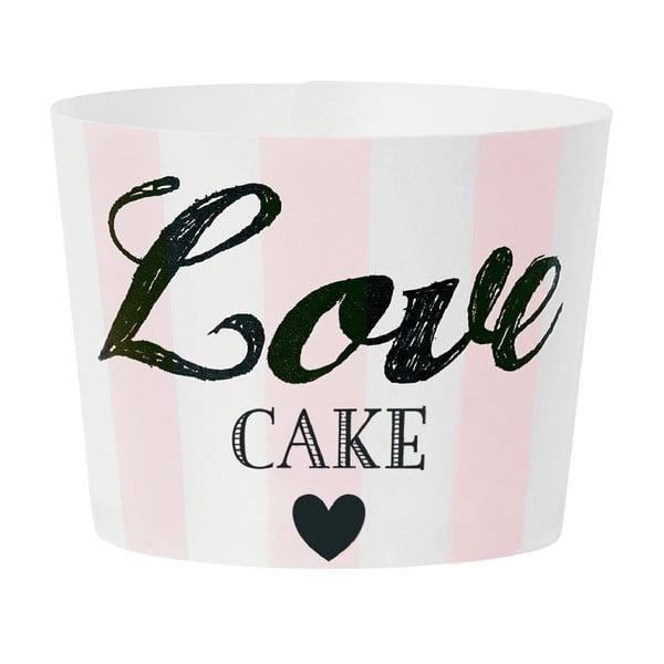 Papierové košíčky na muffiny Love Pink, 24 ks