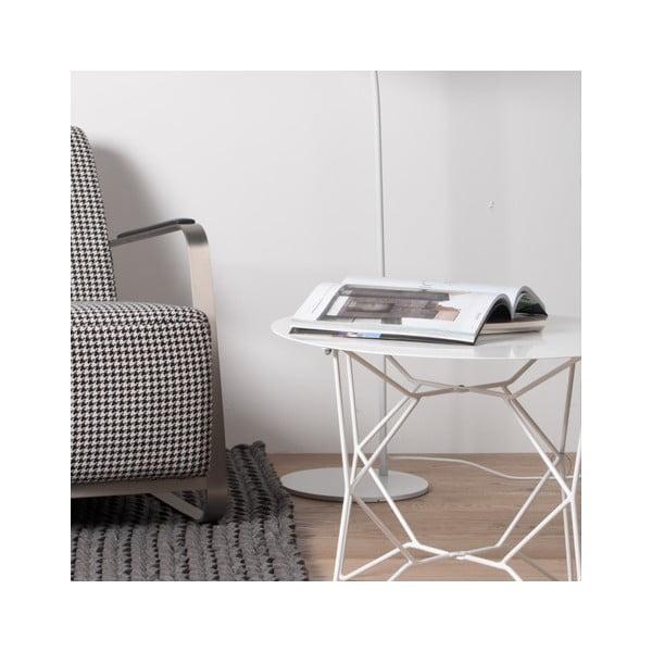 Biely kovový stolík Zuiver Webframe