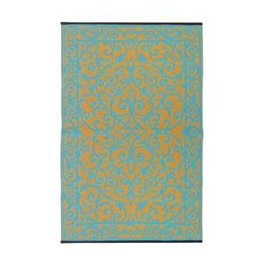 Modro-zelený obojstranný vonkajší koberec Green Decore Gala, 90×150cm