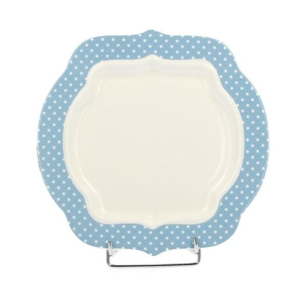 Porcelánový dezertný tanier Retro Blue, 21 cm
