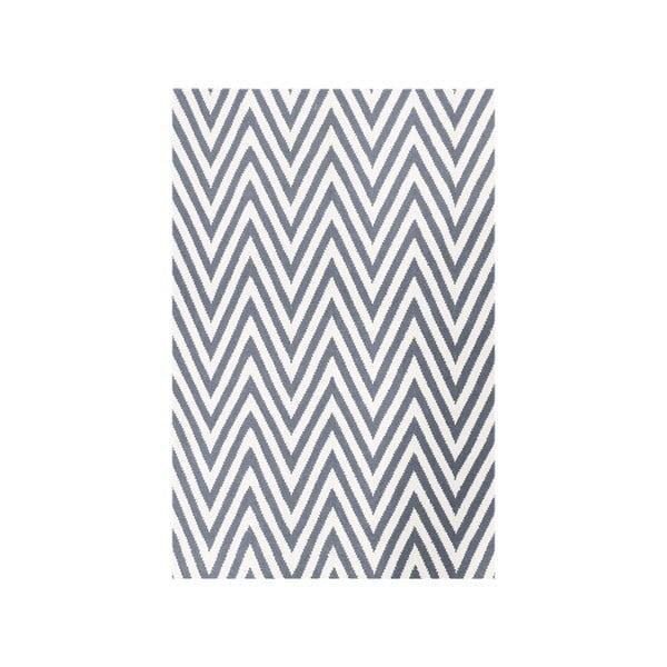 Vlnený koberec Zig Zag Grey, 200x140 cm