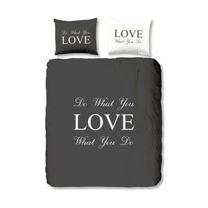 Antracitové obliečky Muller Textiel Love, 140x200cm