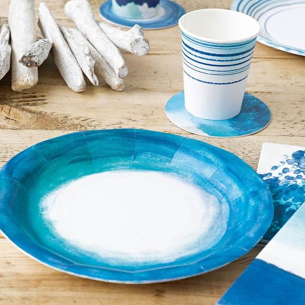 Sada 12 papierových tanierov Talking Tables Coast