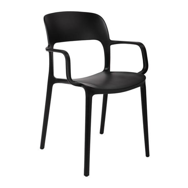 Sada 2 stoličiek D2 Flexi, s opierkami, čierne