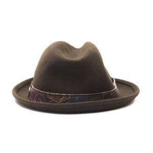 Tmavohnedý kožený pánsky klobouk Alviero Martini Sarudo