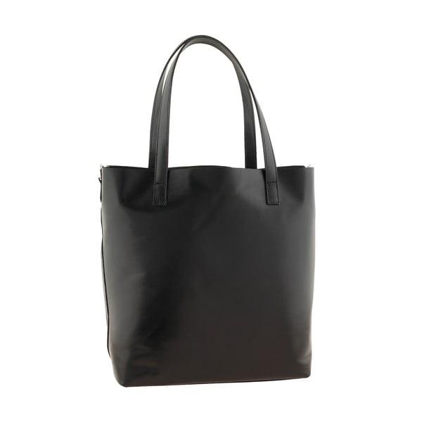 Čierna kožená kabelka Ore Diece Trapani