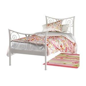 Biela kovová posteľ Støraa Elizabeth, 90×200cm