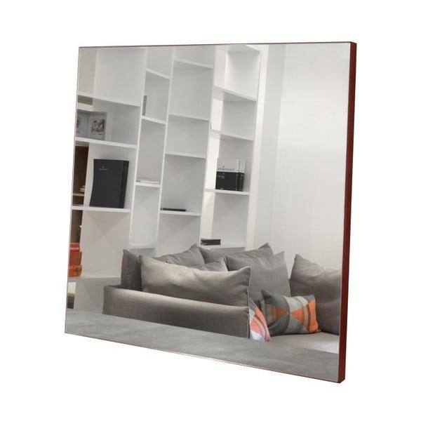 Nástenné zrkadlo s červenými detailmi TemaHome Aurora