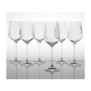 Ateliér Žampach, set 6 ks pohárov na červené víno Traviny hore