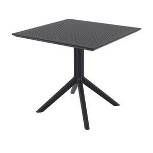 Čierny záhradný jedálenský stôl Resol Sky, 80 × 80 cm