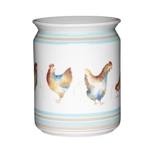 Keramická dóza na kuchynské nástroje Kitchen Craft Hen House