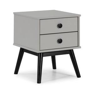 Sivý nočný stolík so zásuvkami Marckeric Clem