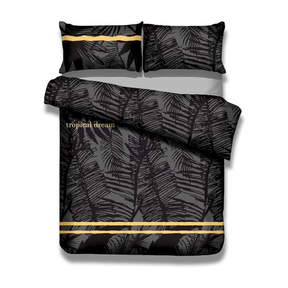 Sada bavlnenej obliečky na perinu a obliečky na vankúš AmeliaHome Averi Tropical, 140 × 200 cm + 50 × 75 cm