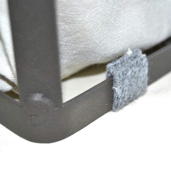 Sada 3 košíkov Metal Fabric