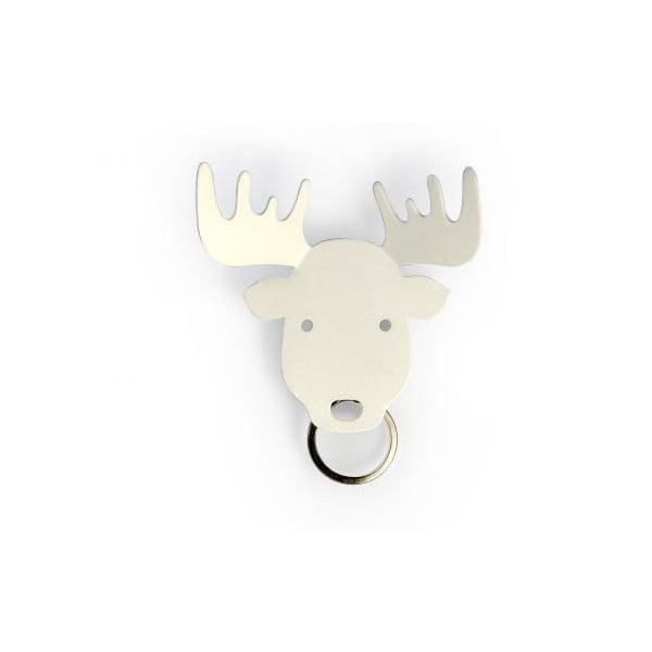 Vešiačik na kľúče QUALY Moose Key Holder, biely