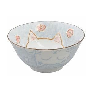 Modrá miska Tokyo Design Studio Cat, ø 15,3 cm