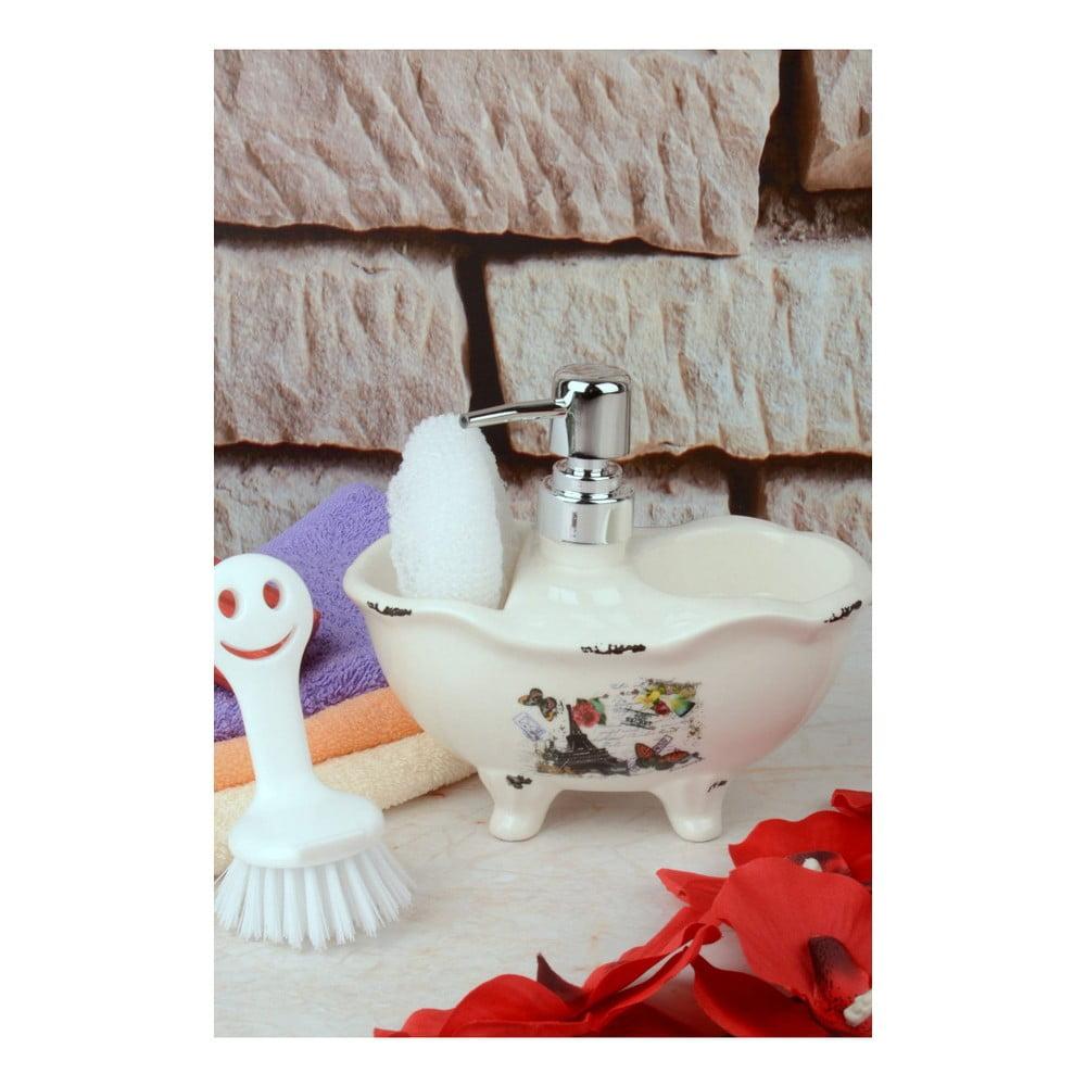 Set dávkovača mydla, špongie a kefy na telo Artist