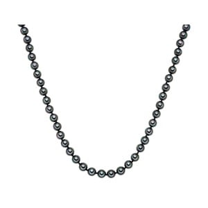 Perlový náhrdelník Muschel, antracitové perly 8 mm, dĺžka 45 cm