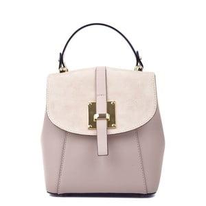 Ružový kožený batoh Carla Ferreri Hagana