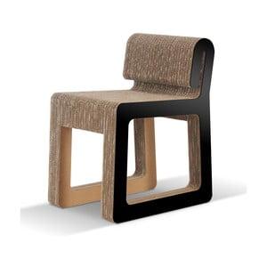 Kartónová stolička Hook Black