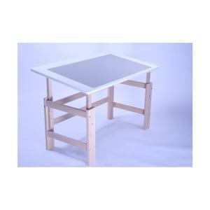 Detský písací stôl s nastaviteľnou výškou Manis-h Lujo, 115 x 65 cm