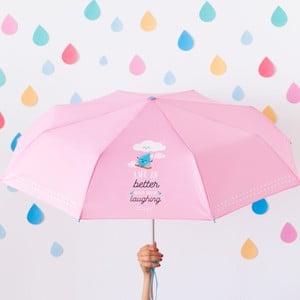 Ružový dáždnik Mr. Wonderful Life is Better