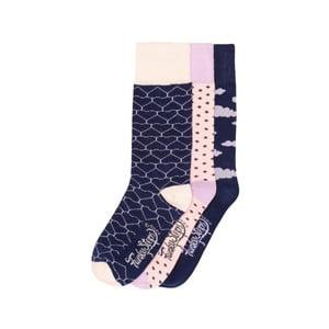 Sada 3 párov farebných ponožiek Funky Steps Broward, veľ. 35-39