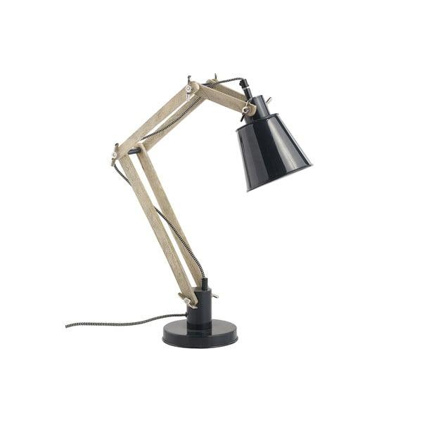 Stolná nastaviteľná lampa Retro, čierna