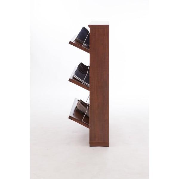 Tmavohnedá skrinka na topánky z bukového dreva Arredamenti Italia Gioia