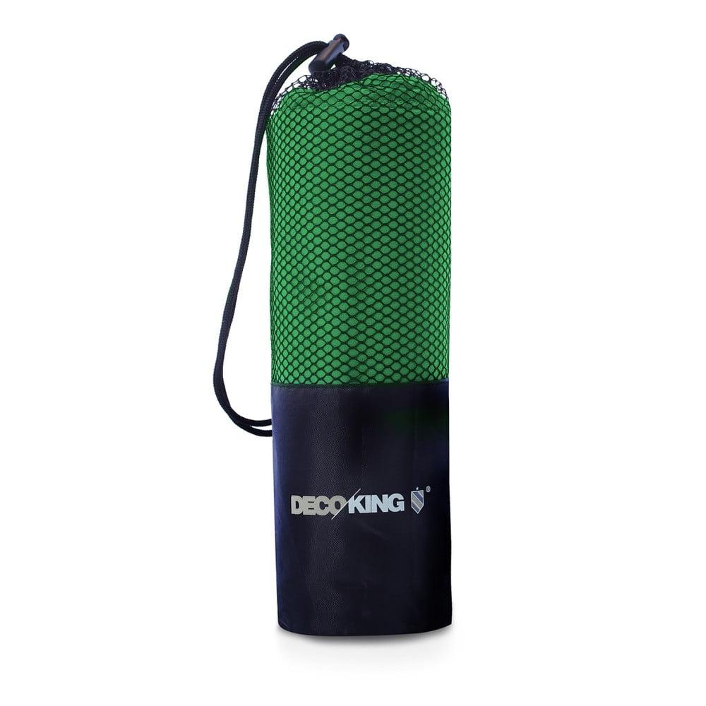 Sada 2 zelených rýchloschnúcich uterákov DecoKing EKEA, 30 × 50 cm