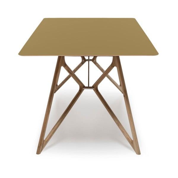 Dubový jedálenský stôl Tink Linoleum Gazzda, 160cm, olivový