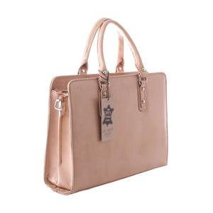 Taupe kožená taška Chicca Borse Camilla