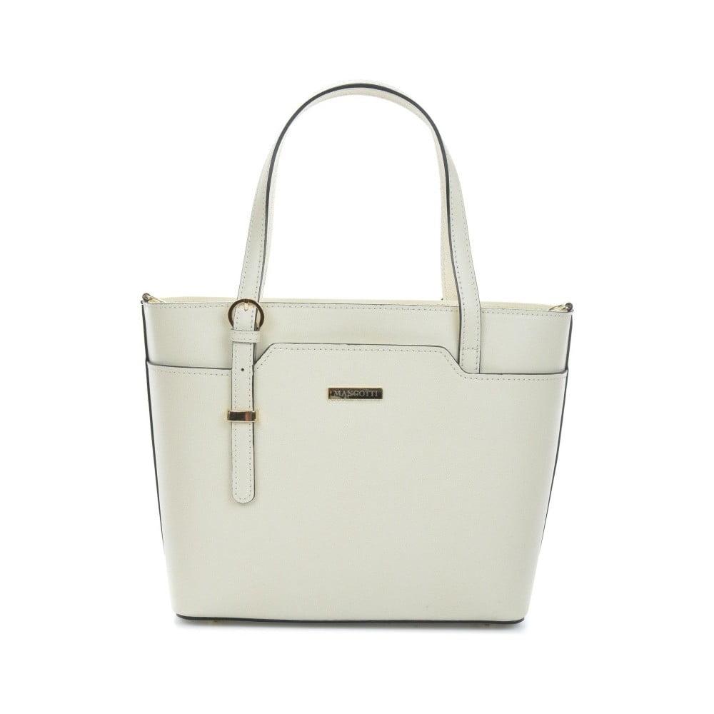 Béžová kožená kabelka Magnotti Bags Francesca