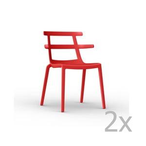 Sada 2 červených záhradných stoličiek Resol Tokyo