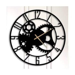 Čierne kovové nástenné hodiny Grace