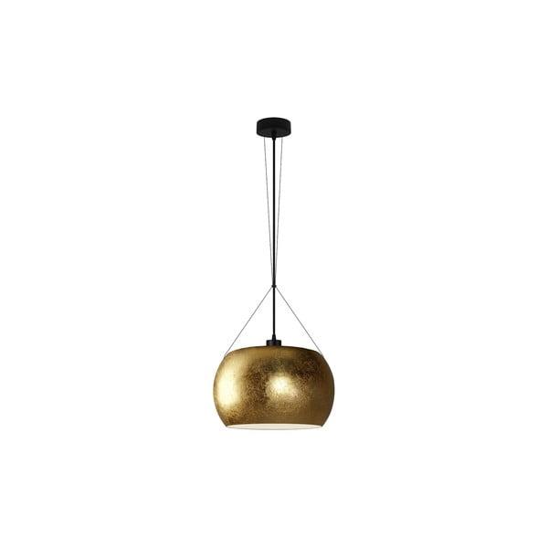Zlaté závesné svietidlo s čiernym káblom Sotto Luce MOMO