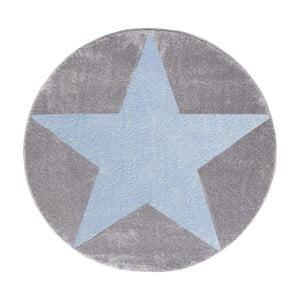 Sivo-modrý detský koberec Happy Rugs Round, Ø 160cm