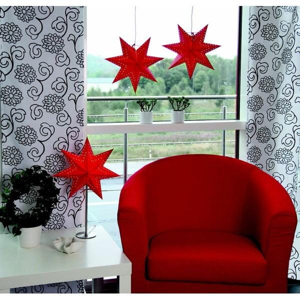 Závesná červená svietiaca hviezda Best Season Antique Red, 60 cm