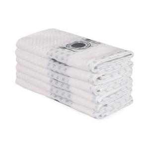 Sada 6 béžových bavlnených uterákov Beyaz Carrie, 30×50 cm