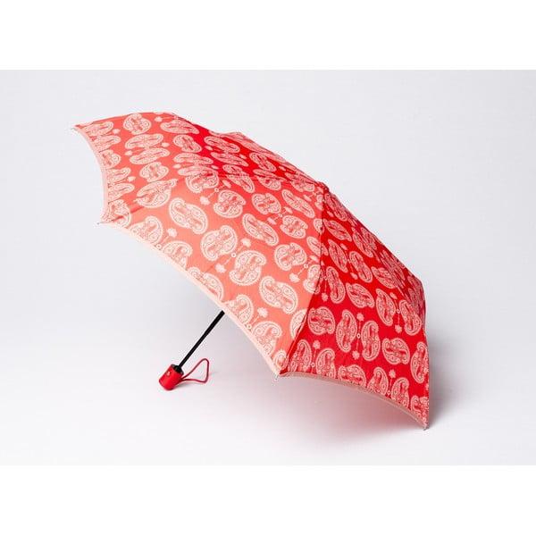 Skladací dáždnik Cashmere, korálový