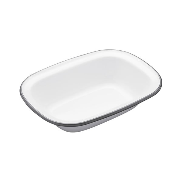 Smaltovaná hranatá forma na koláč Kitchen Craft Living Nostalgia, 20 cm