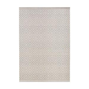 Šedo-krémový koberec vhodný i na ven Bougari Meadow, 160 x 230 cm