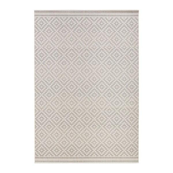 Sivo-krémový koberec vhodný i do exteriéru Bougari Meadow, 160 x 230 cm