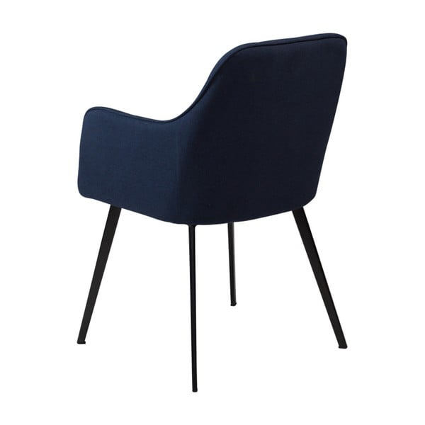 Tmavomodrá jedálenská stolička s opierkami DAN–FORM Denmark Embrace