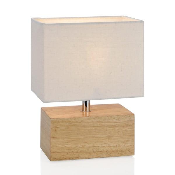 Drevená stolová lampa Square