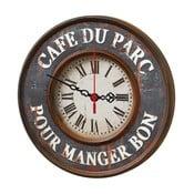 Nástenné hodiny Cafe Du Parc, 30 cm