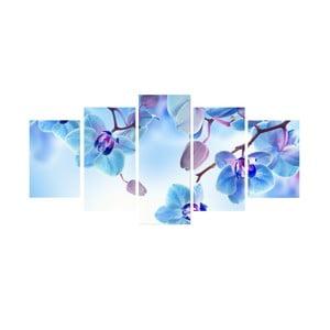 5-dielny obraz Modrá harmónia
