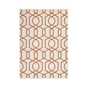 Oranžovo-sivý koberec Kayoom Stella 400 Orange, 80x150cm