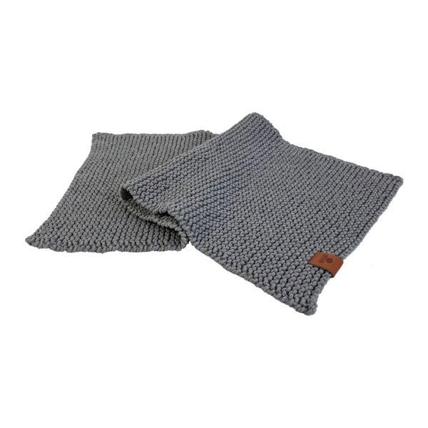 Pletený koberec Catness, sivý, 50x100 cm